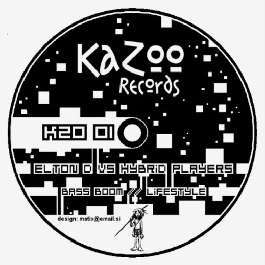 Elton D vs. Hybrid Players ‎– Bass Boom / Lifestyle (KZO001) - Kazoo Records